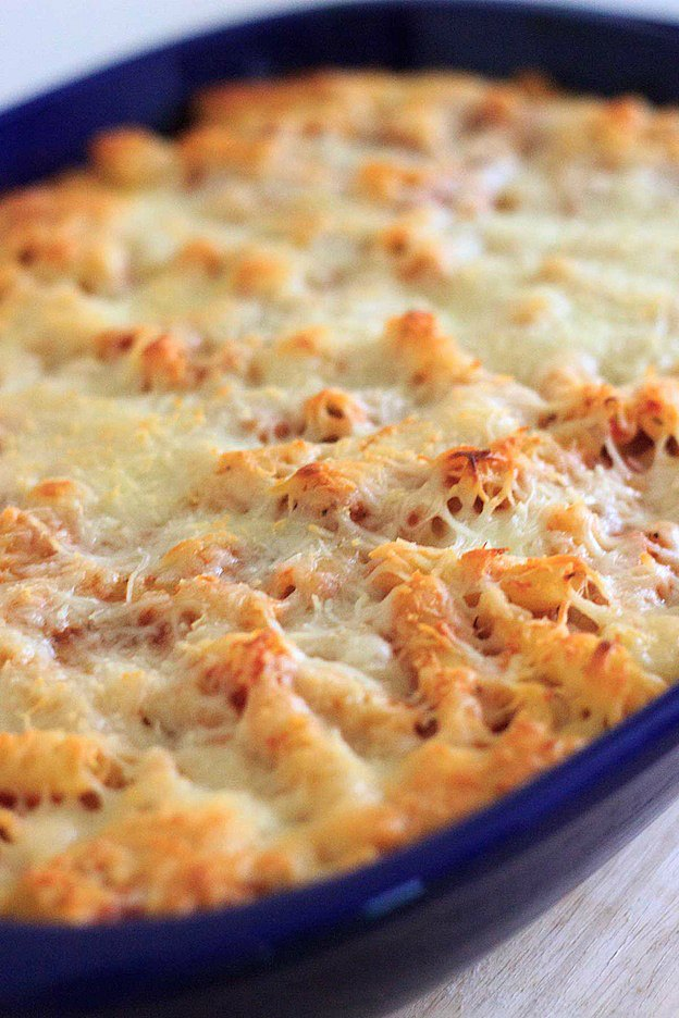 Grandma's Baked Ziti from Trial and Eater ... one of 100+ Vegetarian Comfort Food Recipes | Hello Little Home