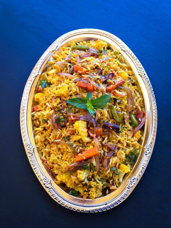 Vegetable Biryani from Easy Cooking with Molly ... one of 100+ Vegetarian Comfort Food Recipes | Hello Little Home