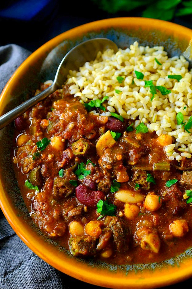 Vegan Gumbo from Cilantro and Citronella ... one of 100+ Vegetarian Comfort Food Recipes | Hello Little Home