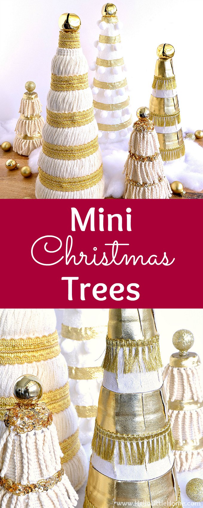 Diy mini christmas trees hello little home for Christmas tree decorations you can make at home