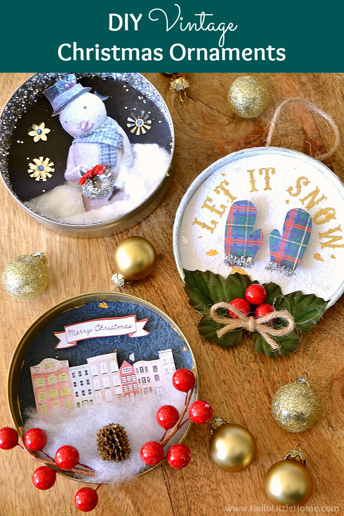 New DIY Vintage Christmas Ornaments | Hello Little Home YN59