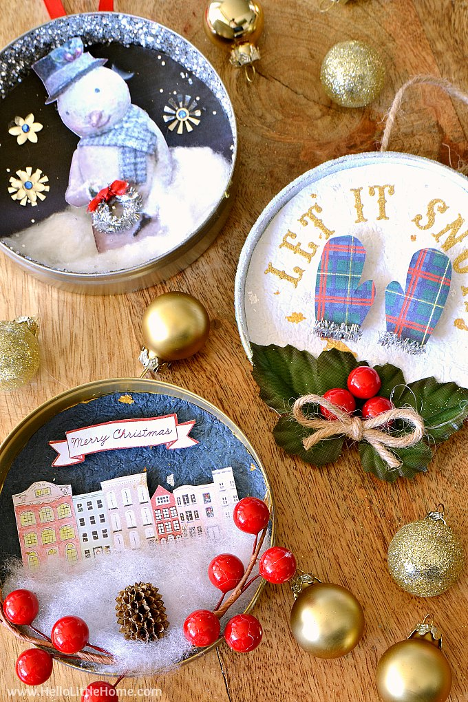 Diy Vintage Christmas Ornaments Hello Little Home