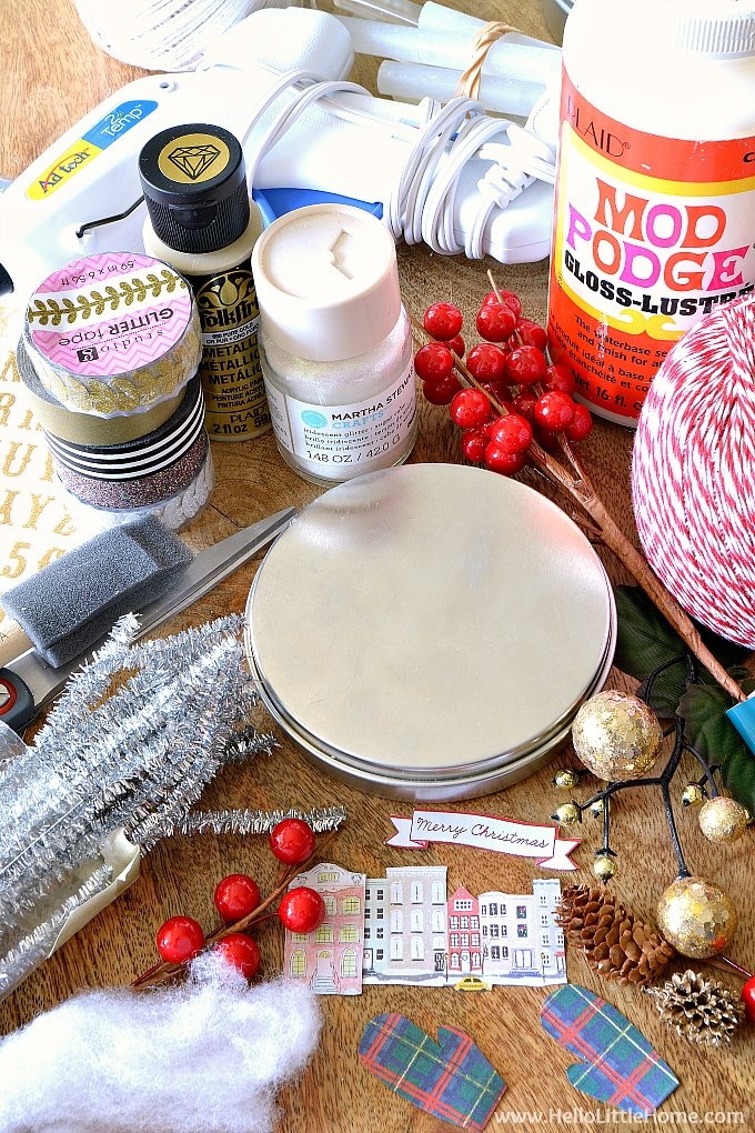 DIY Vintage Christmas Ornament Supplies