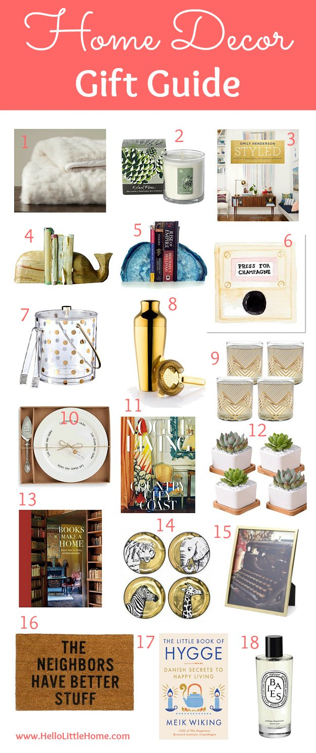 Home decor gift guide hello little home for Home decor gifts