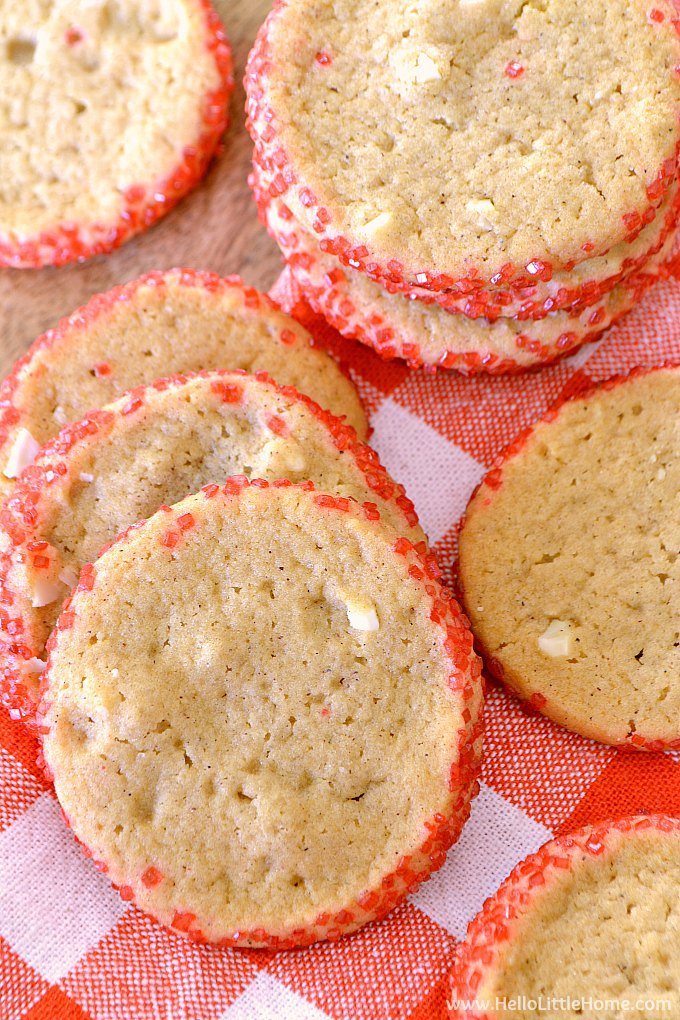 Honey Cookies on a checkered napkin.