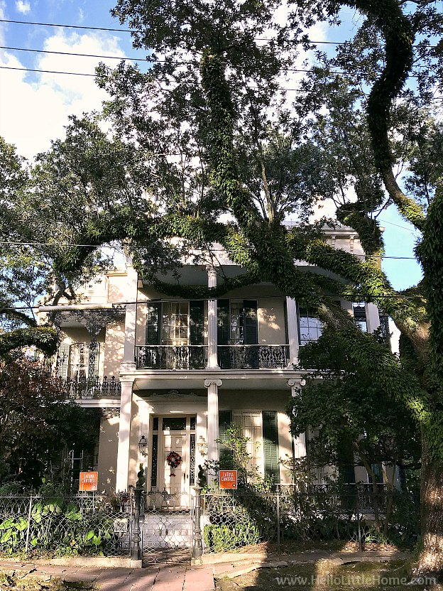 The Brevard Rice House in New Orleans Garden District