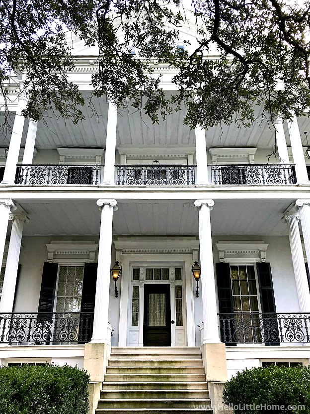 Photo of the Buckner Mansion (seen in American Horror Story) in the NOLA Garden District