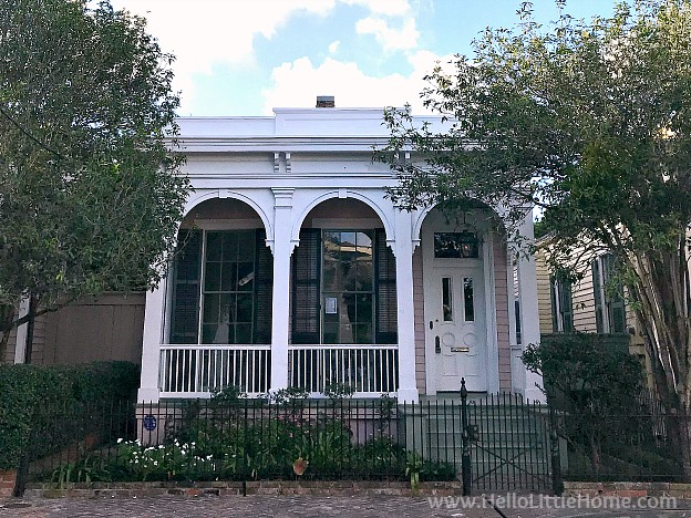 A cottage on Coliseum Street in New Orleans Garden District