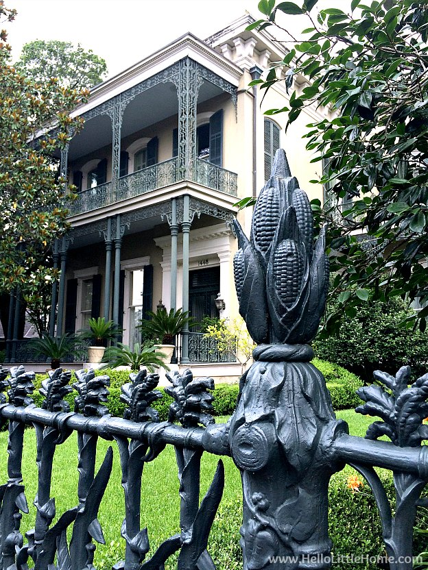 Cornstalk fence at Colonel Short's Villa in New Orleans Garden District