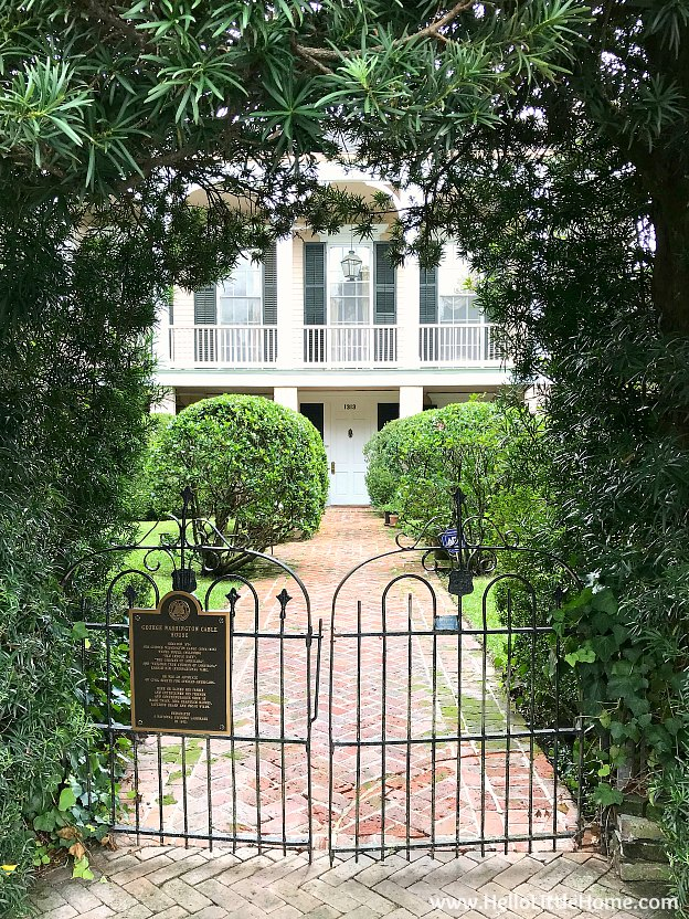 George Washington Cable House in the Garden District New Orleans