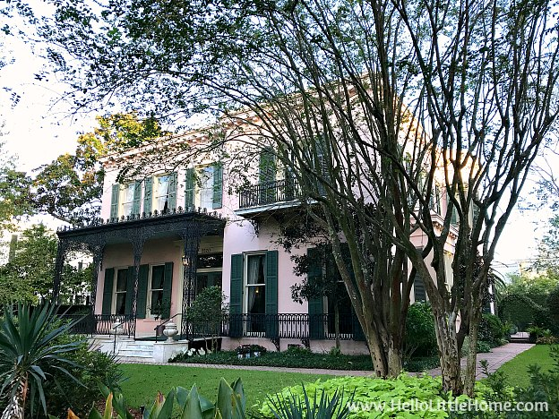 The Gilmour Parker House in the Garden District New Orleans