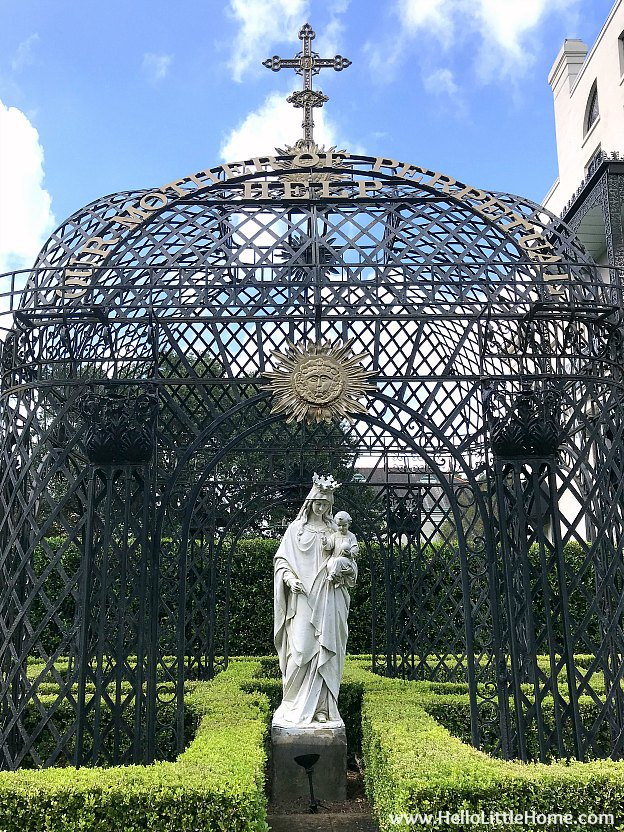 Statue outside the Our Mother of Perpetual Help Chapel in New Orleans Garden District