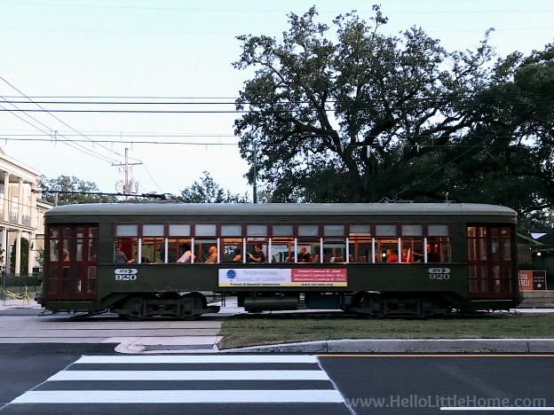 The St. Charles Streetcar in the the Garden District New Orleans