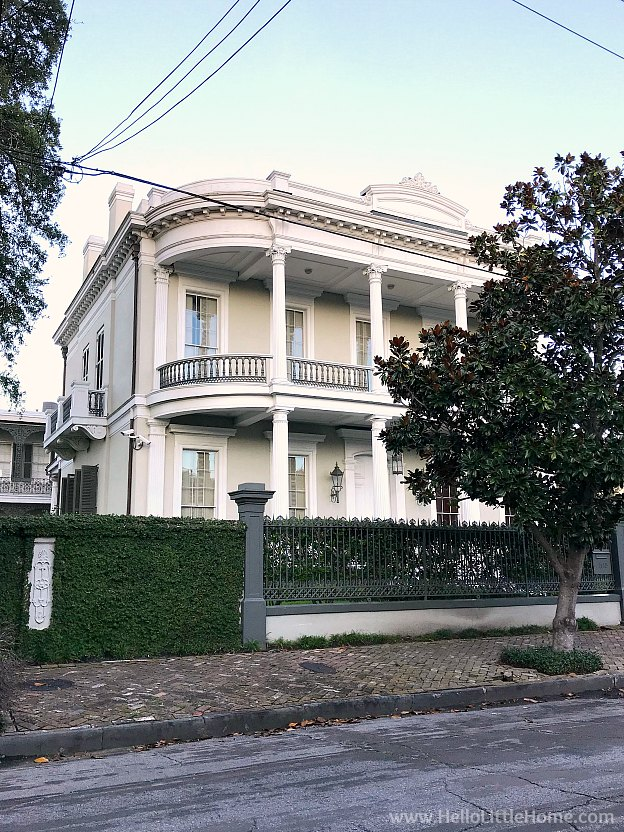 The Walter Grinnon Robinson House in NOLA's Garden District