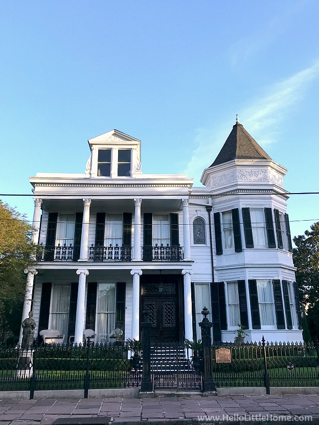 The Women's Guild Opera Association House in the Garden District