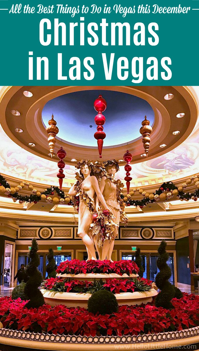 Christmas in Las Vegas: holiday decorations at Caesar's Palace.