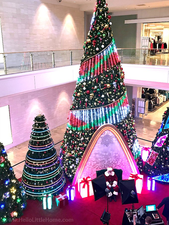 The Christmas Tree and Santa at Fashion Show Mall on the Las Vegas Strip
