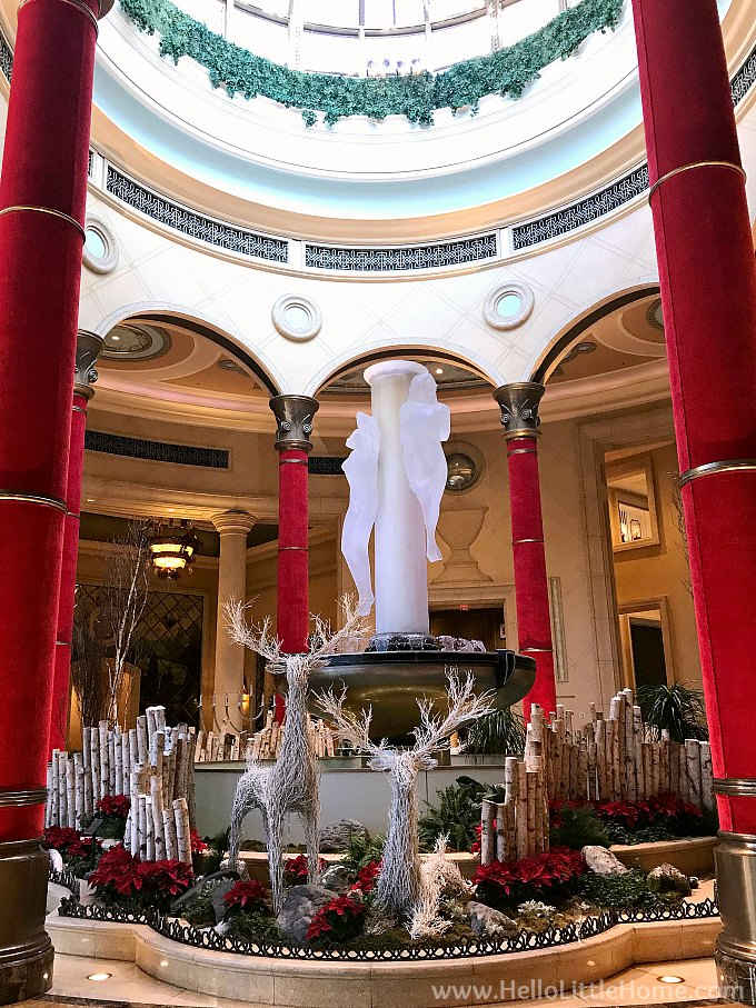 Palazzo Las Vegas Lobby with Christmas Decorations
