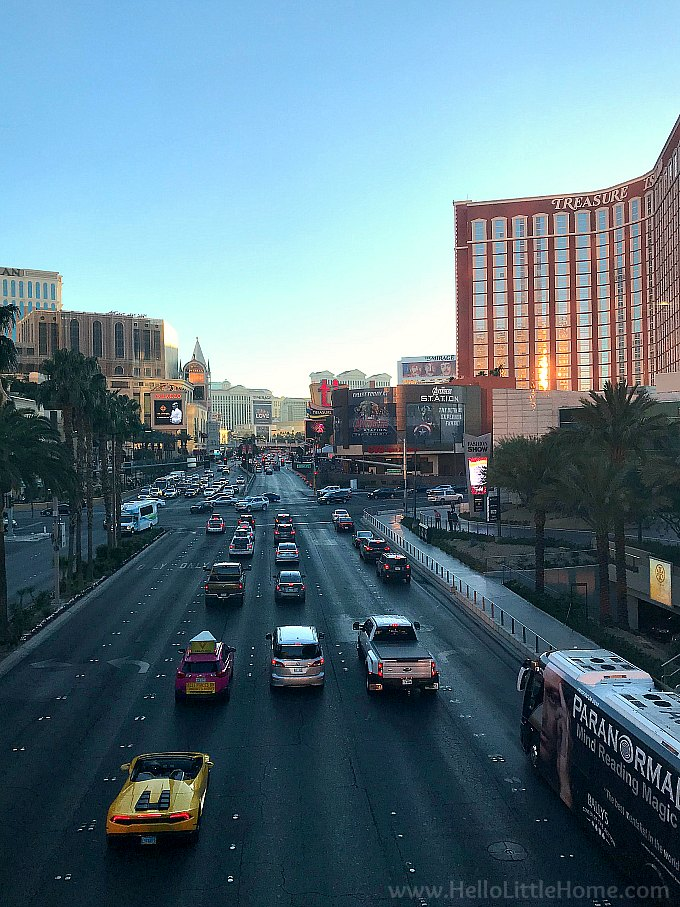 View of the Las Vegas Strip at Christmastime