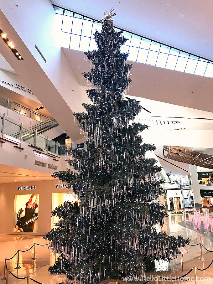 Swarovski Crystal Decorated Christmas Tree at The Shops at the Crystals on Las Vegas Strip