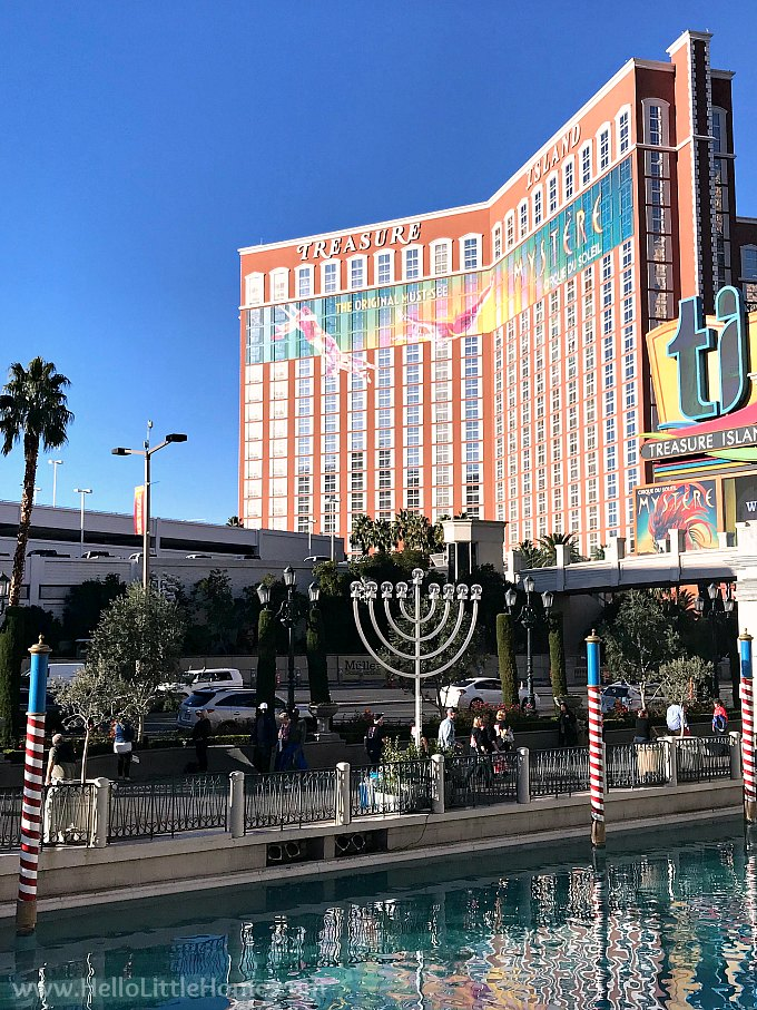 Hanakuh Menorah Outsite the Venetian in Las Vegas During December