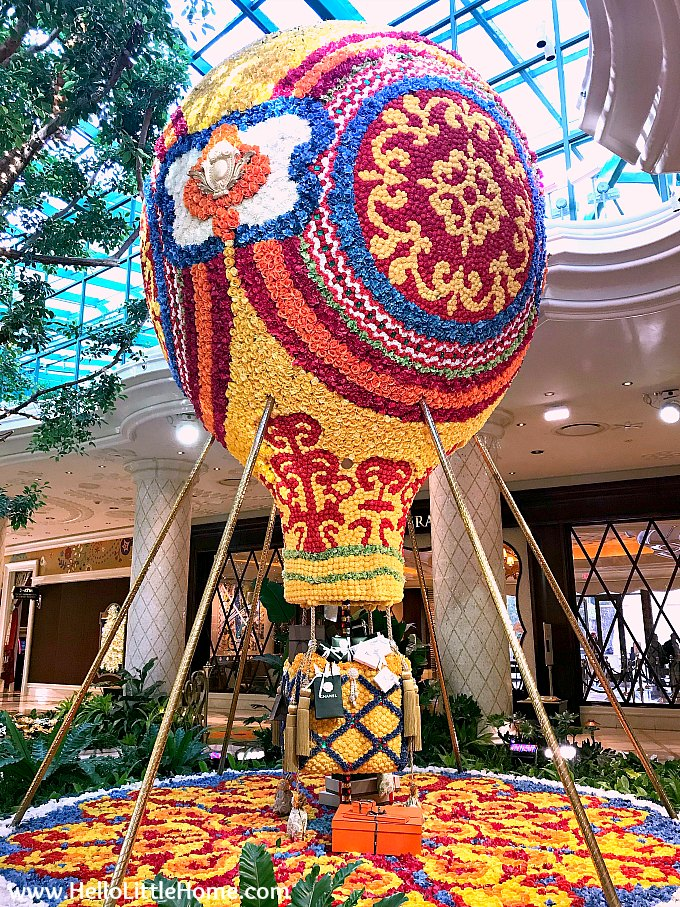 Colorful Balloon in the Wynn's Winter Wonderland Filled with Luxury Presents