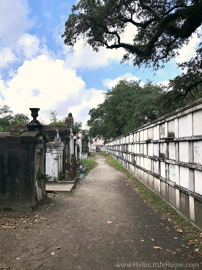 Wall Vaults in Lafayette Cemetery No. 1 in New Orleans Garden District