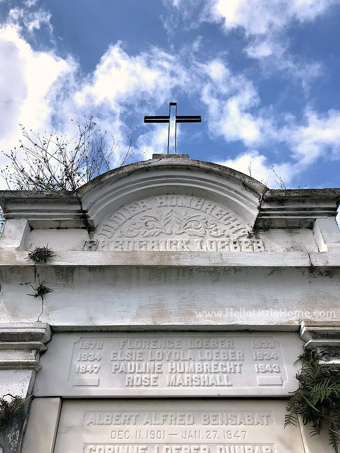 Iron Cross Atop a Vault in Garden District Cemetery