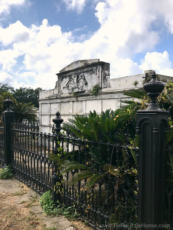 Jefferson Fire Company No. 22 Tomb at Lafayette Cemetery No. 1 New Orleans