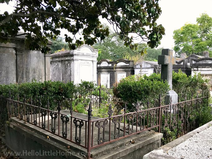 Family Tombs and Raised Graves at Lafayette Cemetery in the Garden District, New Orleans