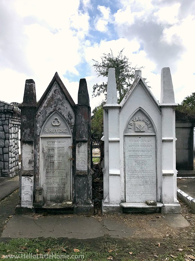 Pair of Family Vaults in Lafayette Cemetery New Orleans
