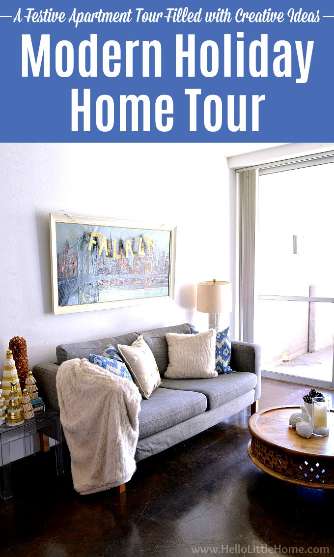 A modern Christmas Home Tour featuring DIY projects and other creative ideas.