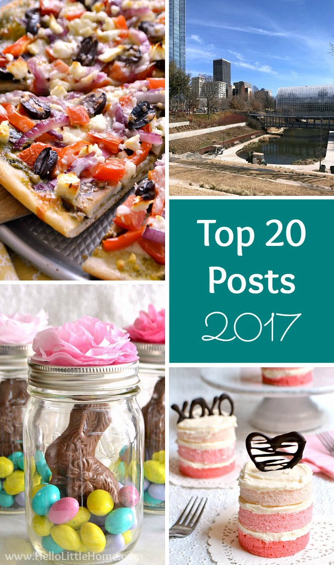 Top 20 Posts from 2017: Most Popular Vegetarian Recipes, Crafts, Travel Tips, and More! | Hello Little Home