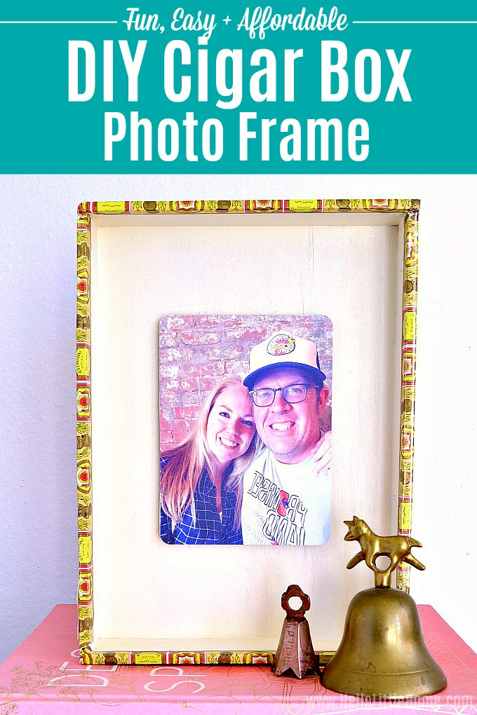 DIY Photo Frame from a Cigar Box ... Fun Way to Reuse a Cigar Box ...