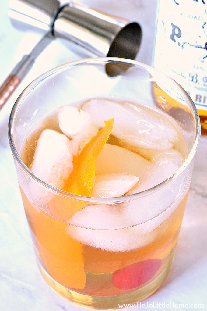 A Rum Old Fashioned Cocktail