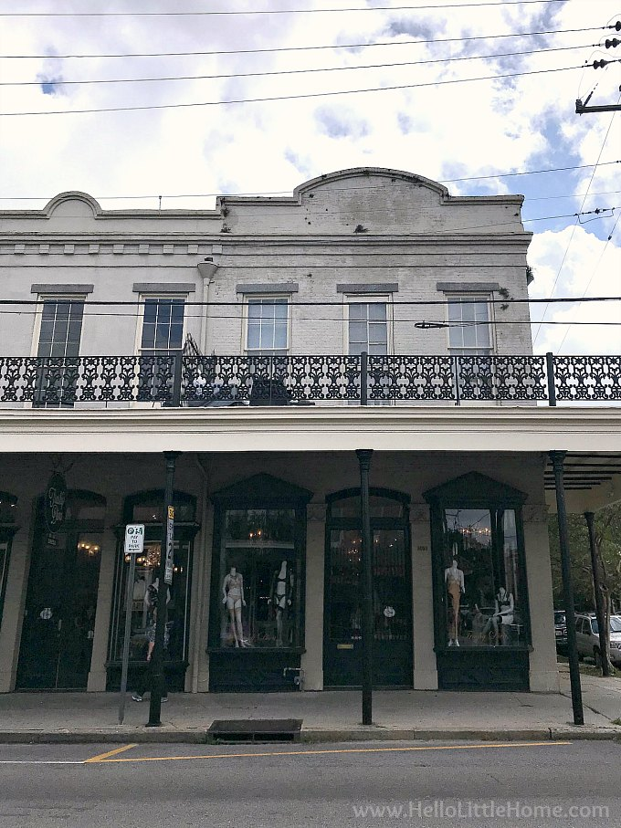 Shopping on Magazine Street, one of the best things to do in New Orleans on a rainy day.