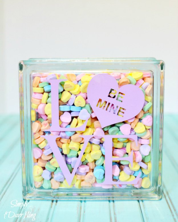A cute Conversatio Heart Craft for Valentine's Day.