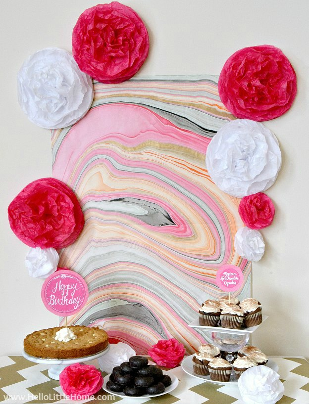 A cute pink and gold Valentine's Day party theme.