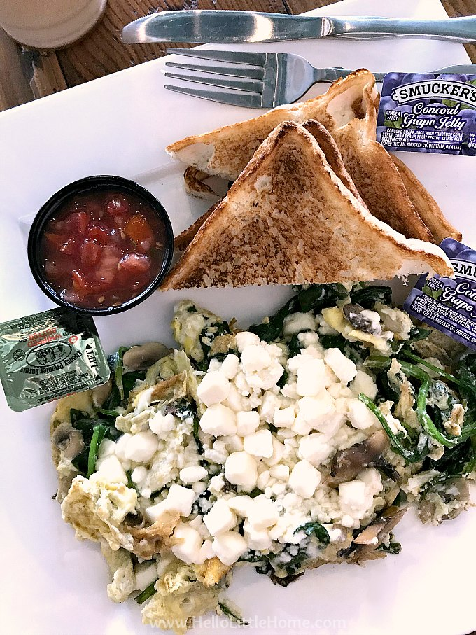 A breakfast scramble from The Southern Grind Coffe House in Orange Beach.