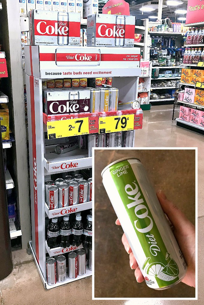 Diet Coke Ginger Lime at Kroger.