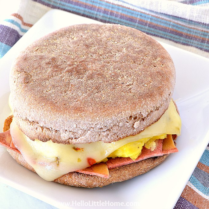 Easy Egg and Cheese Breakfast Sandwich