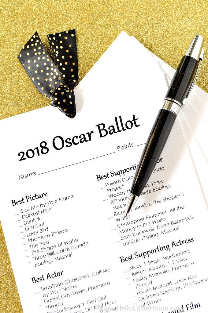 Dramatic image pertaining to printable oscar ballot
