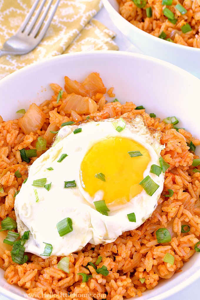 Easy Kimchi Fried Rice | Hello Little Home