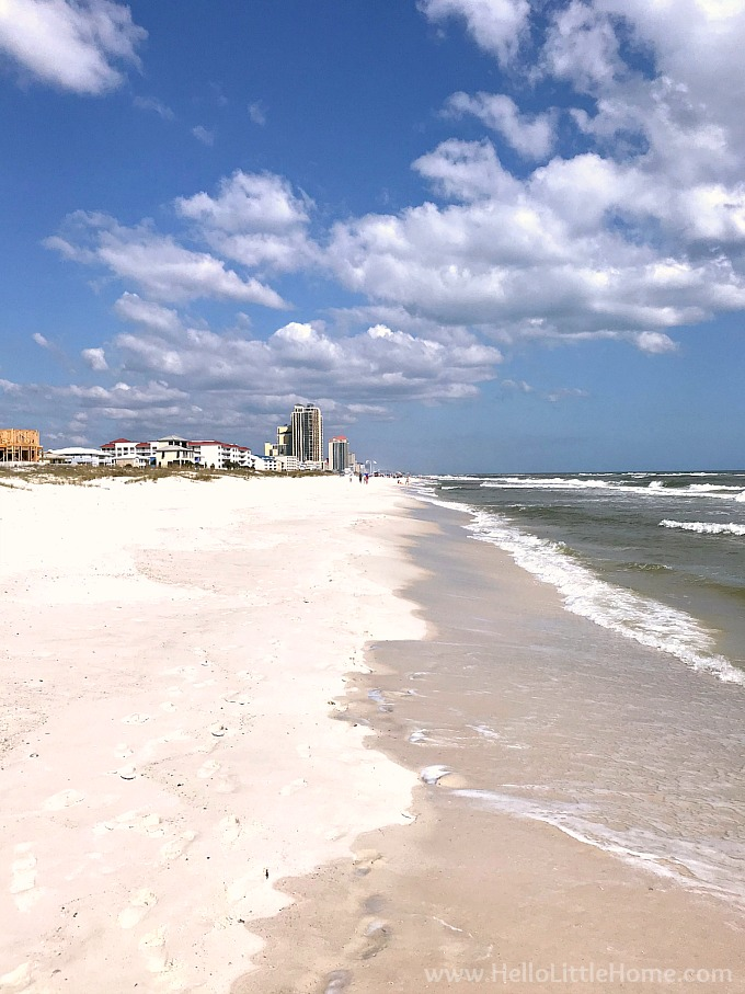Look East On Gulf State Park Beach In Orange