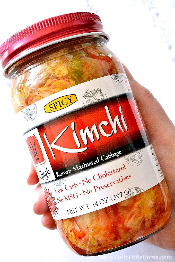 A jar of kimchi.