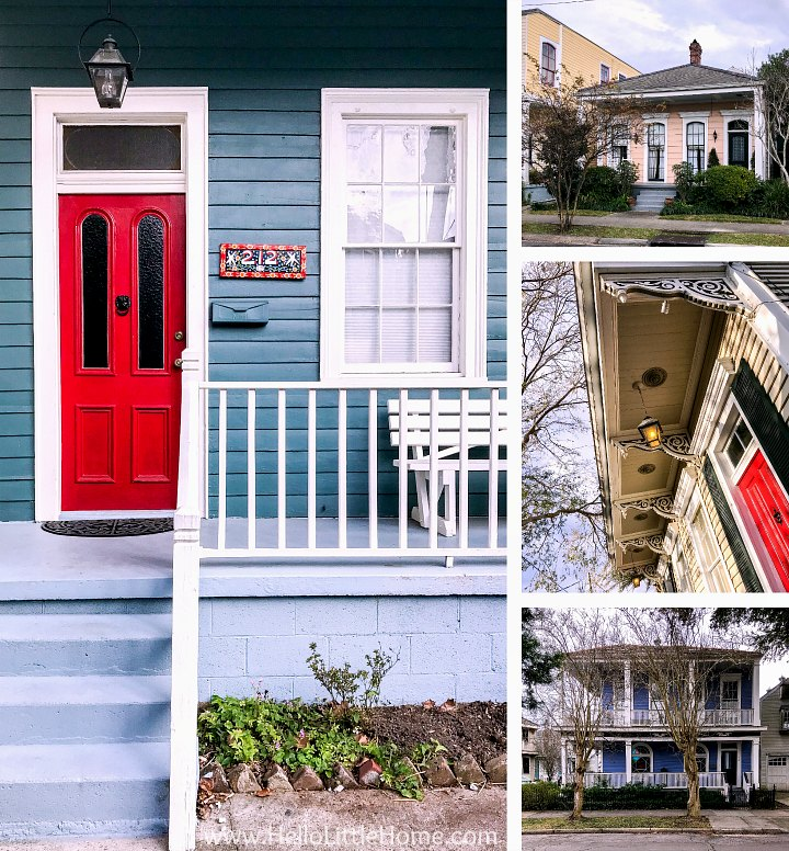 A collage of different Algiers houses.