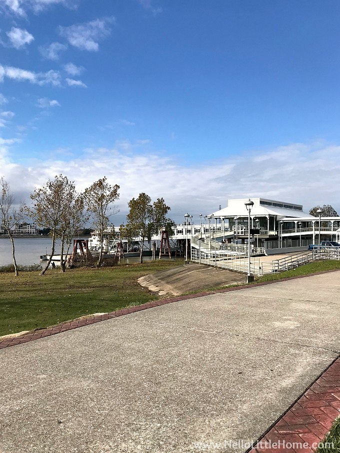 A view of the Algiers Point Ferry Terminal from the Algiers Levee.