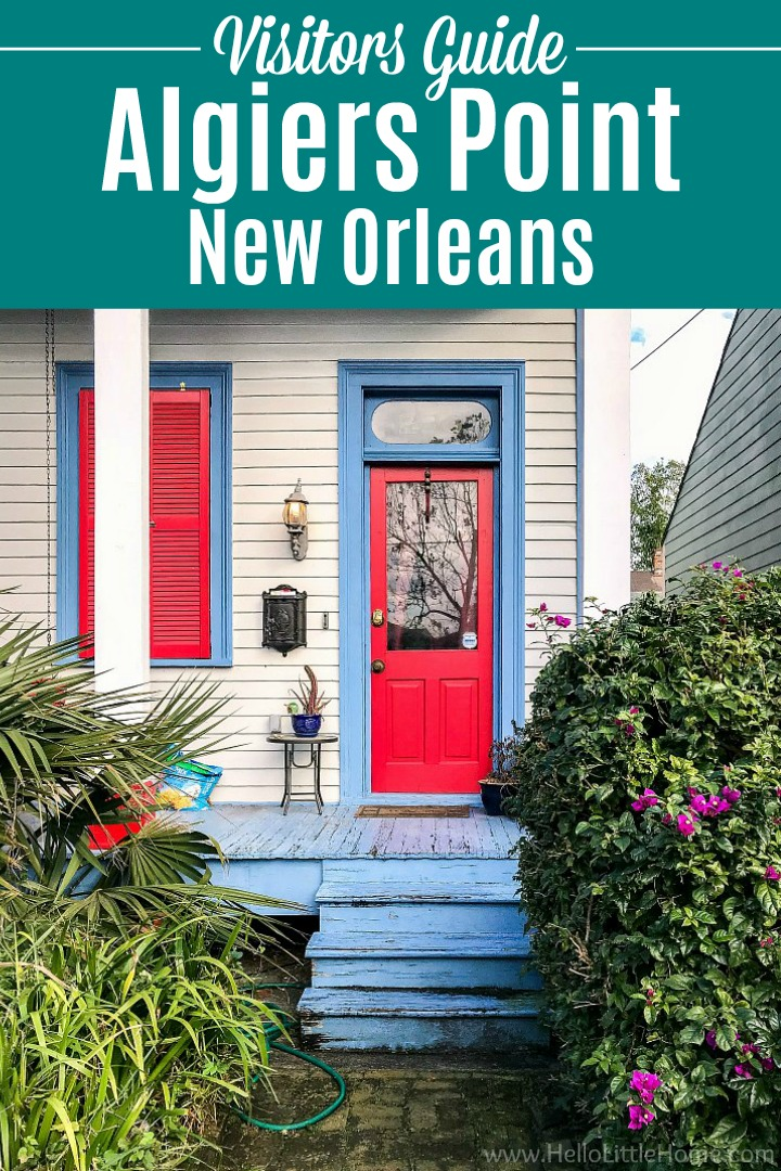 A colorful front porch in Algiers Point, New Orleans.
