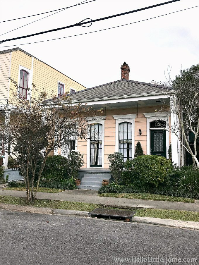 A charming cottage in Algiers Point, New Orleans.