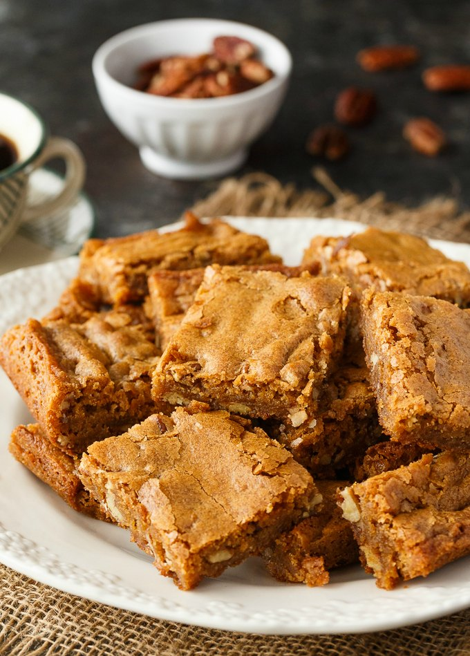 Butterscotch Blondies Recipe from Simply Stacie